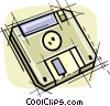 Vector Clipart image  of a Computer diskette