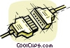 Computer cables Vector Clipart graphic