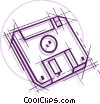 Computer diskette Vector Clipart picture