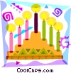 Vector Clip Art graphic  of a Menorahs