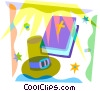 Bible with pioneer hat Vector Clip Art image