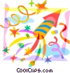 Vector Clipart image  of a Fireworks and Firecrackers
