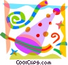 Party hat and noise makers Vector Clipart image