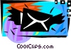 Vector Clip Art graphic  of an Airmail concept