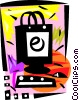 Vector Clip Art picture  of a Online shopping bag