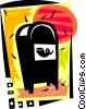 Vector Clip Art graphic  of a Mailbox