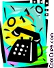 Vector Clipart graphic  of a Ringing telephone