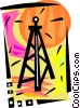 Oil well Vector Clip Art picture