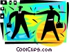 Vector Clip Art graphic  of a Business people shaking hands
