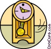 Vector Clip Art picture  of a Grandfather Clocks
