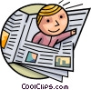 Vector Clip Art image  of a Periodicals Newspapers