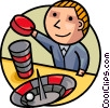 Man playing Roulette Vector Clip Art image