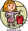 Vector Clipart graphic  of a Misc Women
