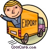 Courier Services Man exporting goods Vector Clipart picture