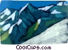Vector Clipart illustration  of a Mountain scene