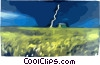 Vector Clipart graphic  of a Lightning storm