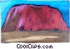Australia Ayers Rock Vector Clip Art graphic