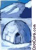 Vector Clip Art picture  of a Igloos