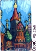 Saint Basil's Cathedral in Red Square Vector Clip Art picture