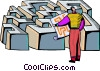 Vector Clip Art graphic  of a Mazes