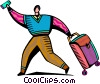 Vector Clipart graphic  of a Business Travel