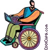Vector Clipart image  of a People with Disabilities