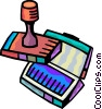 Rubber Stamps Vector Clipart graphic