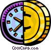 Financial Concepts Time is money Vector Clipart graphic