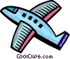 Vector Clipart illustration  of a Commercial Jets