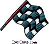 Auto Racing checkered flag Vector Clipart illustration