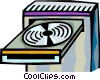 Vector Clip Art image  of a CD-ROM Drives