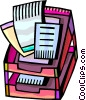 In-Boxes and Out-Boxes Vector Clip Art graphic
