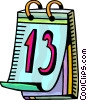 Vector Clip Art graphic  of a Calendars