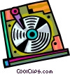 Vector Clip Art picture  of a Hard Disk Drives
