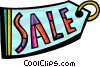 Vector Clipart picture  of a Sales and Price Tags