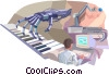 Robotics and keyboard Vector Clip Art image