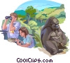 Vector Clip Art image  of an Anthropologists