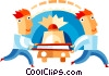 Ambulance attendants with stretcher Vector Clip Art picture