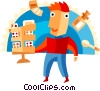 Man at the drug store Vector Clip Art picture