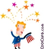 Vector Clip Art graphic  of a Independence day