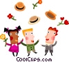 Actors Vector Clipart illustration