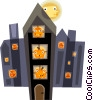 haunted house Vector Clip Art graphic
