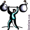 Vector Clipart illustration  of a Strength