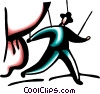 Vector Clipart illustration  of a Control and Manipulation