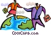 International business people shaking hands Vector Clipart illustration