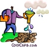Vector Clipart image  of an Assorted Metaphors