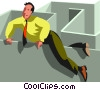 businessman in a maze Vector Clipart picture