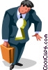 a key hole businessman Vector Clipart graphic
