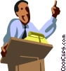Vector Clipart illustration  of a Presenters and Presentations