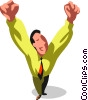 victorious businessman Vector Clipart picture